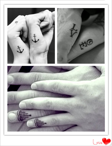 Couple tattoos starstylemepretty for Anchor tattoos for couples