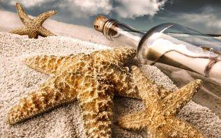 Bottle-Sand-Beach-Starfish-Drift-Bottles-Photography